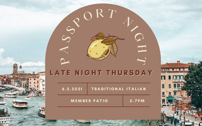 Take a Tour of Italy During Passport Night – Thursday, June 3rd